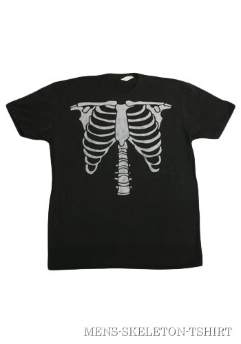 Mens Skeleton Costume T-Shirt