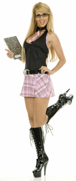 School Girl (Black/Pink) Adult Costume