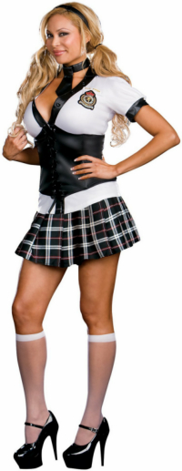 NYC Prep School Girl Adult Plus Costume