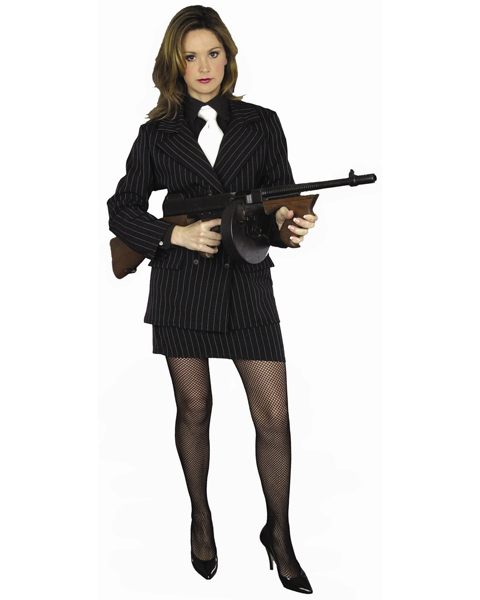 Plus Size Sexy Mafia Costume for Adult