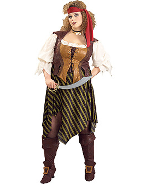Adult Plus Pirate Wench Costume