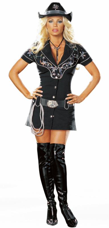 Rhinestone Cowgirl Sexy Adult - Click Image to Close