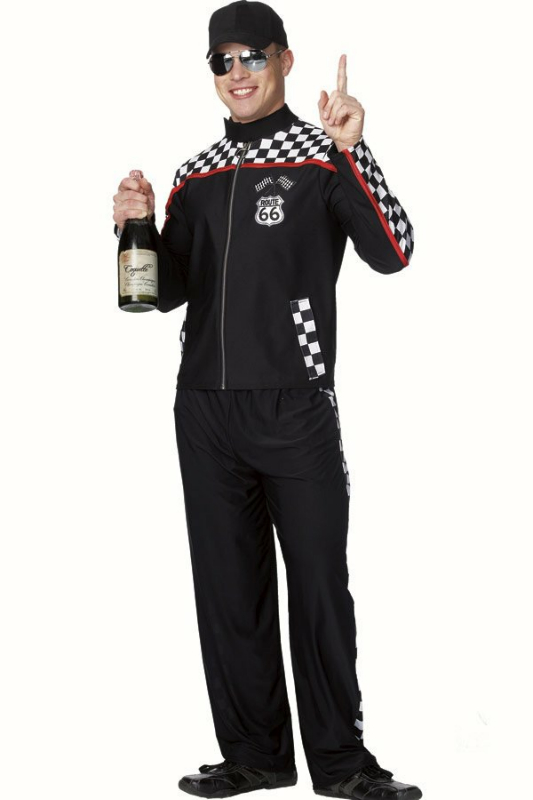Male Race Car Driver Adult Costume