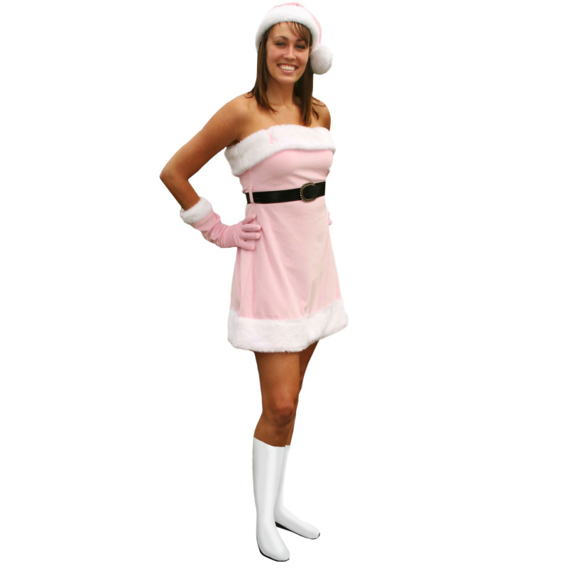 Pink Santa's Helper Adult - Winter Holiday Classics Costume