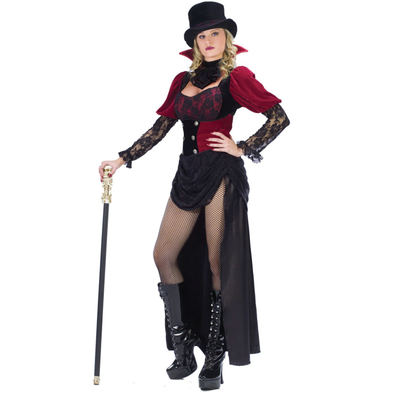 Burlesque Victorian Vampiress Adult Costume - Click Image to Close