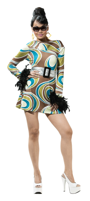The Mod Swirl Adult Costume
