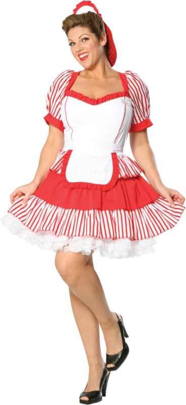 Diner Delight Plus Adult Costume