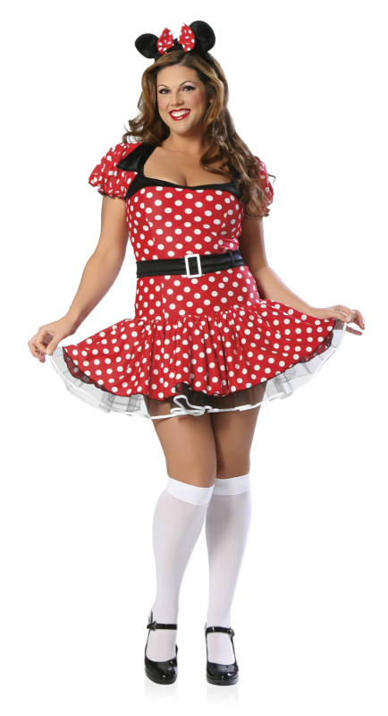 Ms. Mouse Plus Adult Costume
