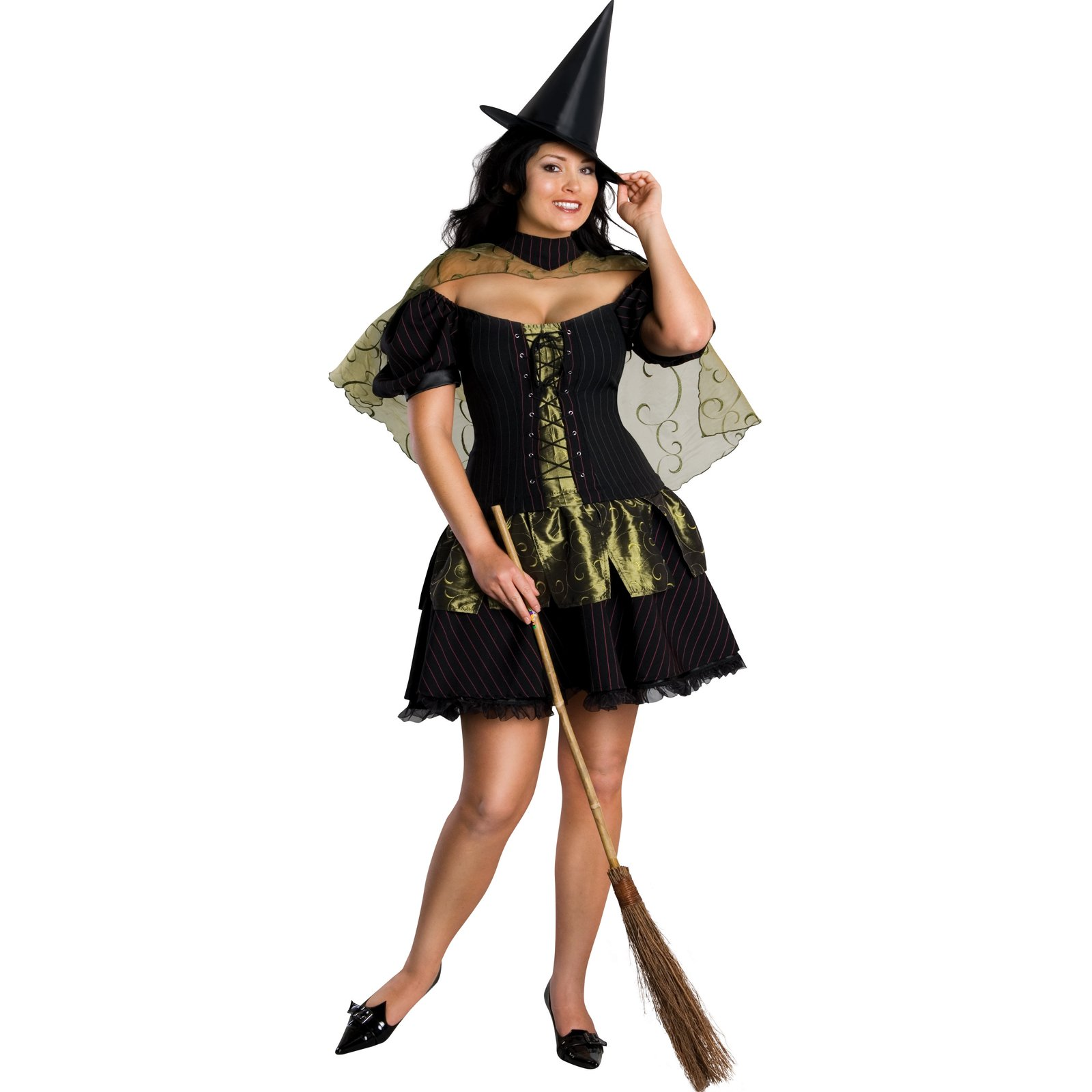 Sexy Wicked Witch Plus Adult Costume