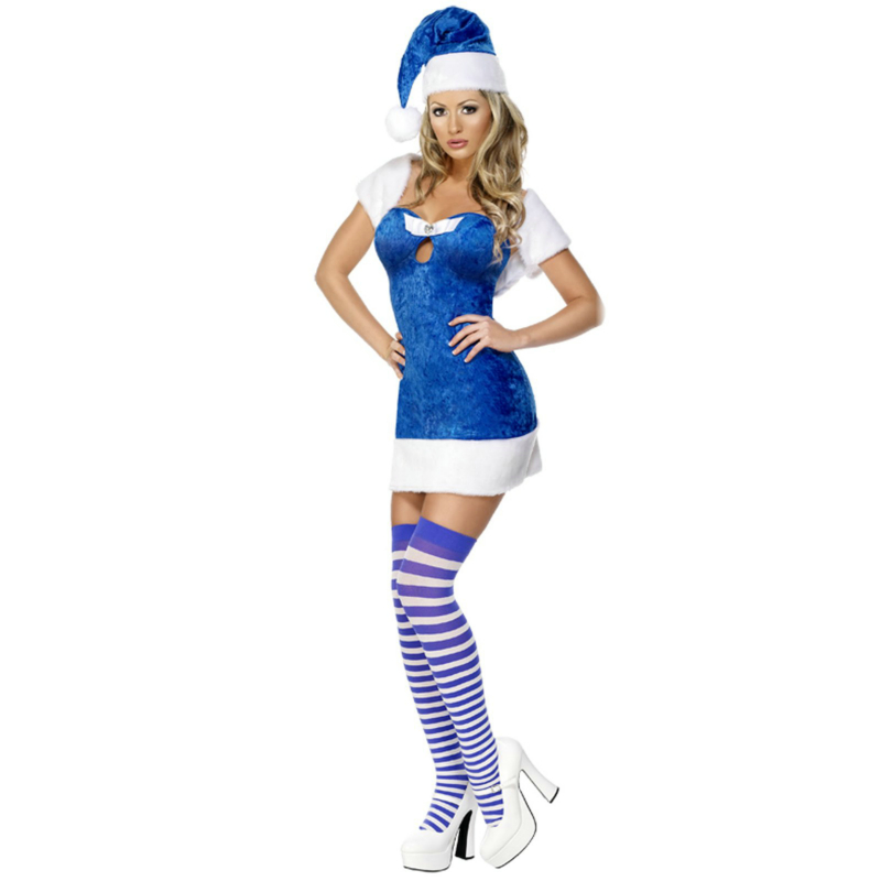 Blue Christmas Present Adult Costume