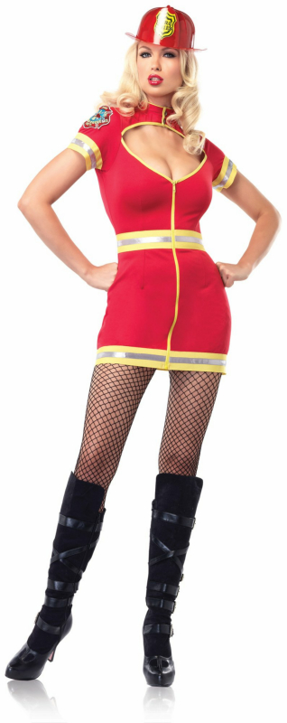 Flirty Firefighter Adult Costume