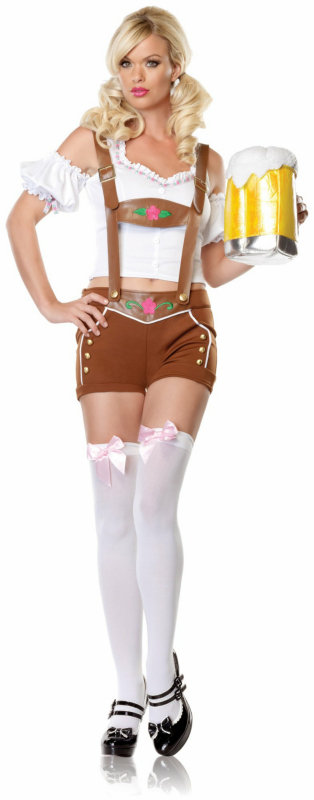 Little Miss Lederhosen Adult Costume