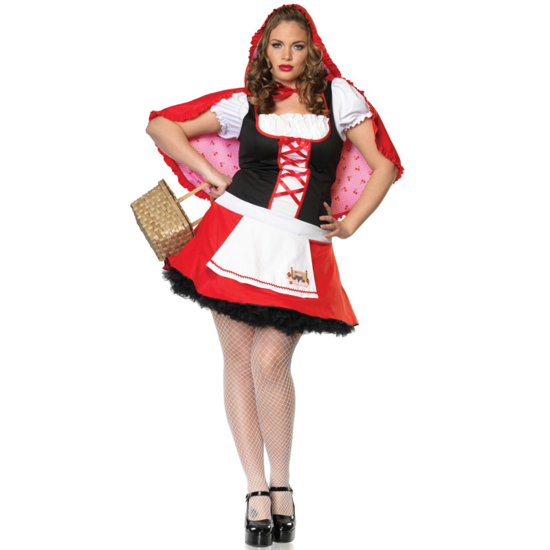 Lil' Miss Red Adult Plus Costume