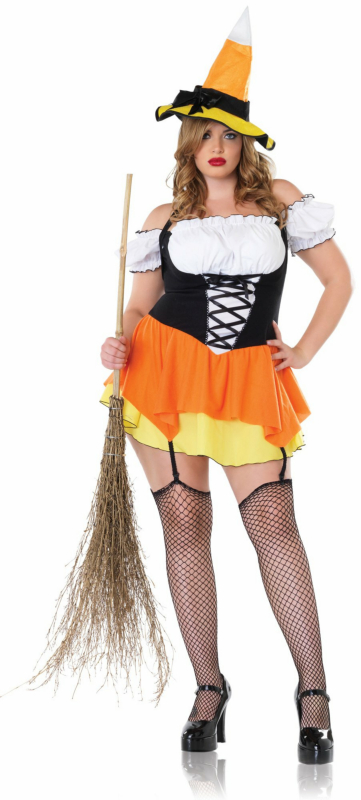 Kandy Korn Witch Plus Adult Costume