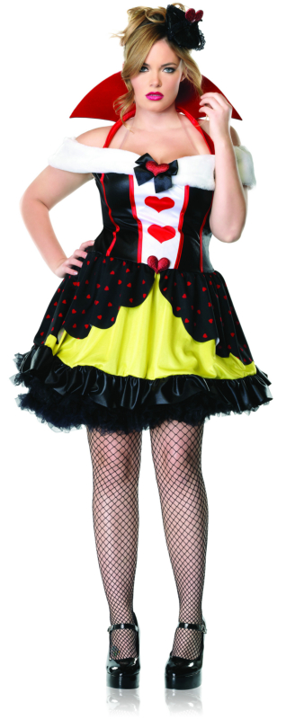 Queen of Hearts Plus Adult Costume