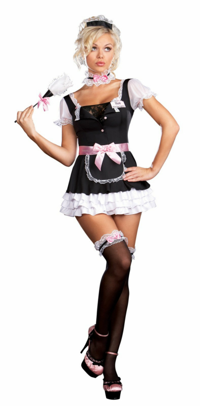 French Maid Miss Dee Lightful Adult Costume