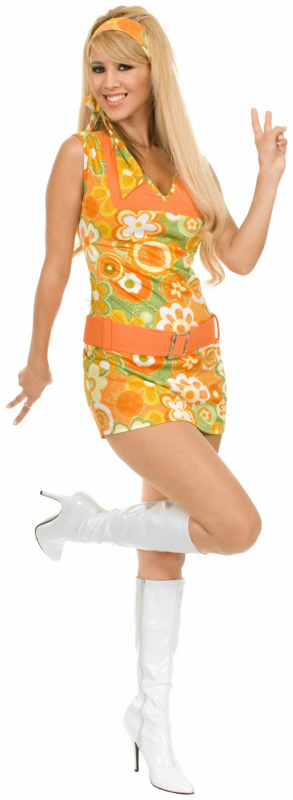 San Francisco Girl Orange Adult Costume