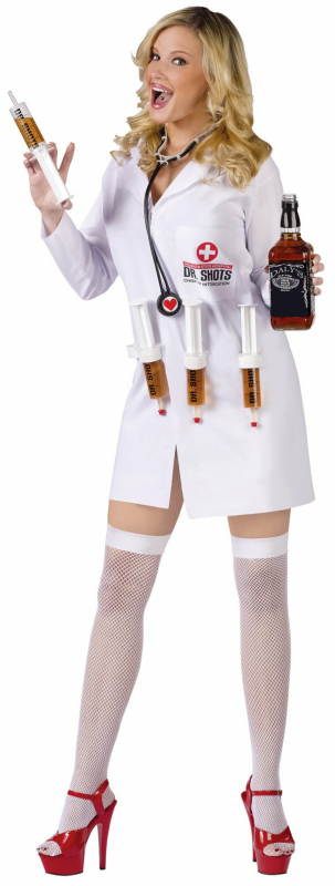 Dr. Shots Female Adult Costume