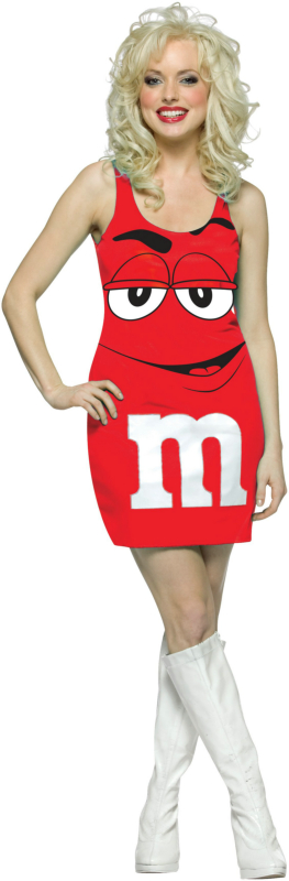 M&M Red Tank Dress Adult Costume