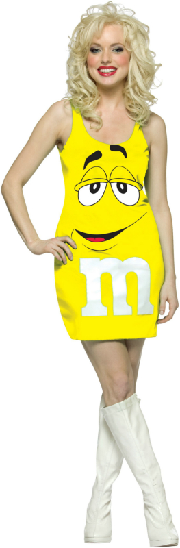 M&M Yellow Tank Dress Adult Costume