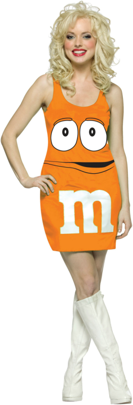 M&M Orange Tank Dress Adult Costume