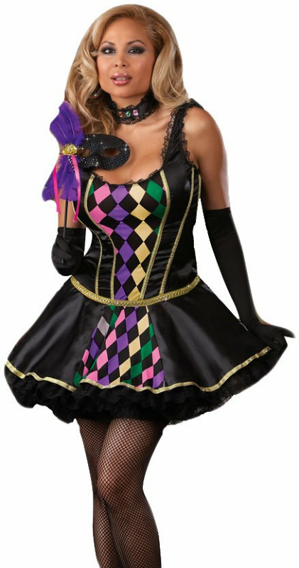 Mardi Gras Masquerade Adult Plus Costume