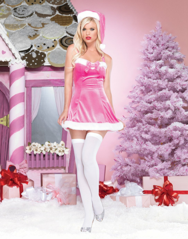 Tinsel Tease Pink Adult Costume