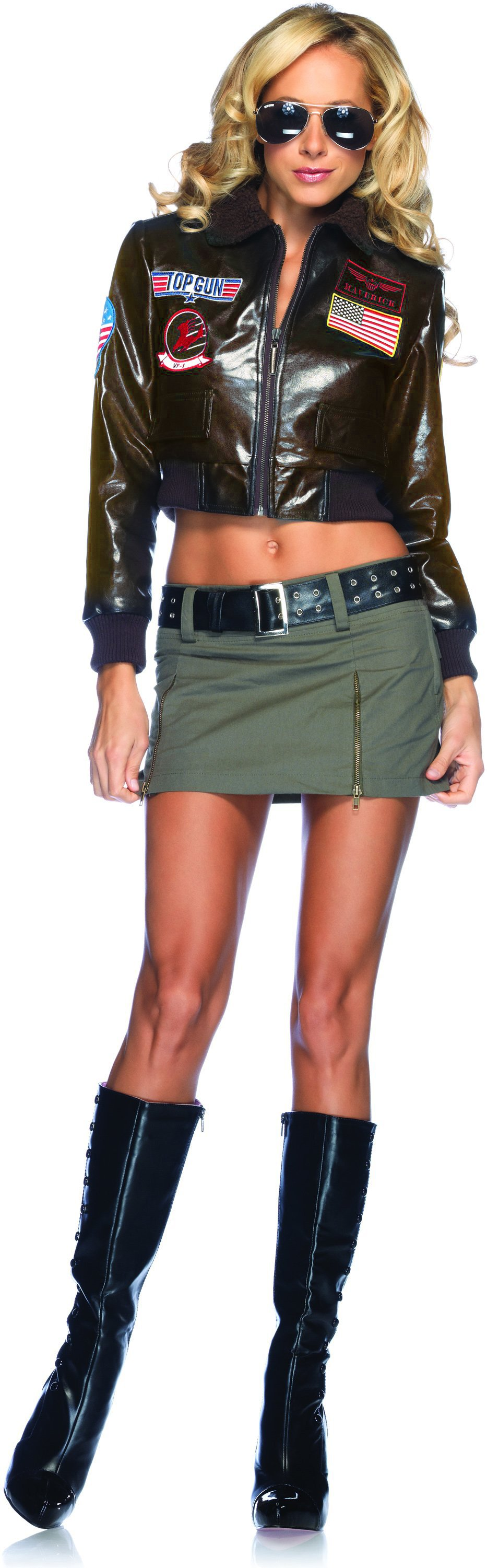 Top Gun Bomber Jacket Adult Costume (Female)
