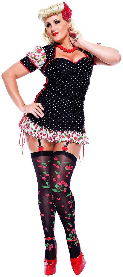 French Kiss Pinup Girl Adult Plus Costume