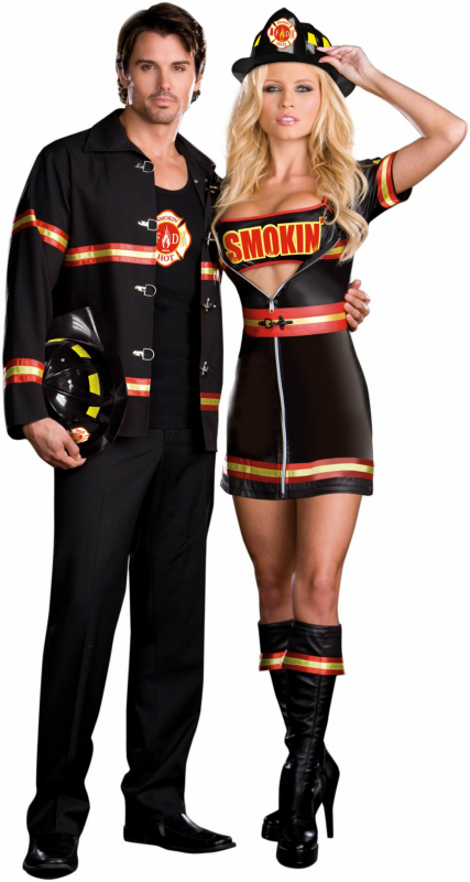Smokin' Hot Fire Department Man Adult Costume - Click Image to Close