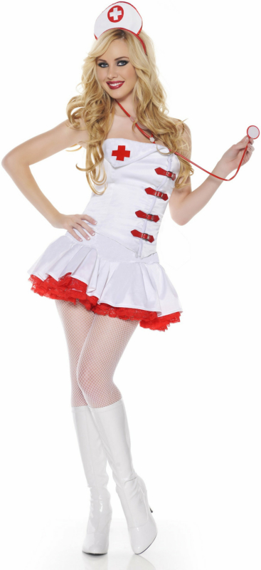 Zip-Up Nurse Adult Costume