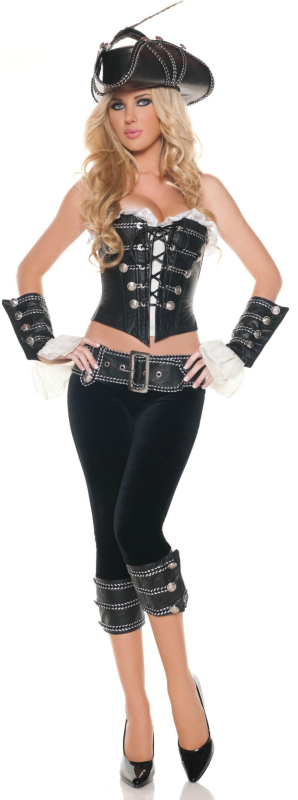 Exotic Rouge Pirate Adult Costume