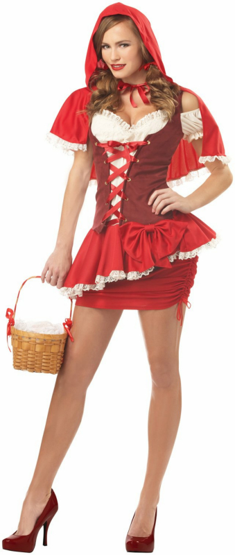 Racy Red Riding Hood Plus Adult Costume