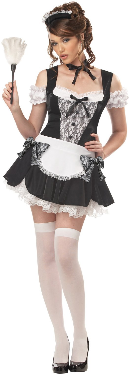 French Kiss Maid Adult Costume