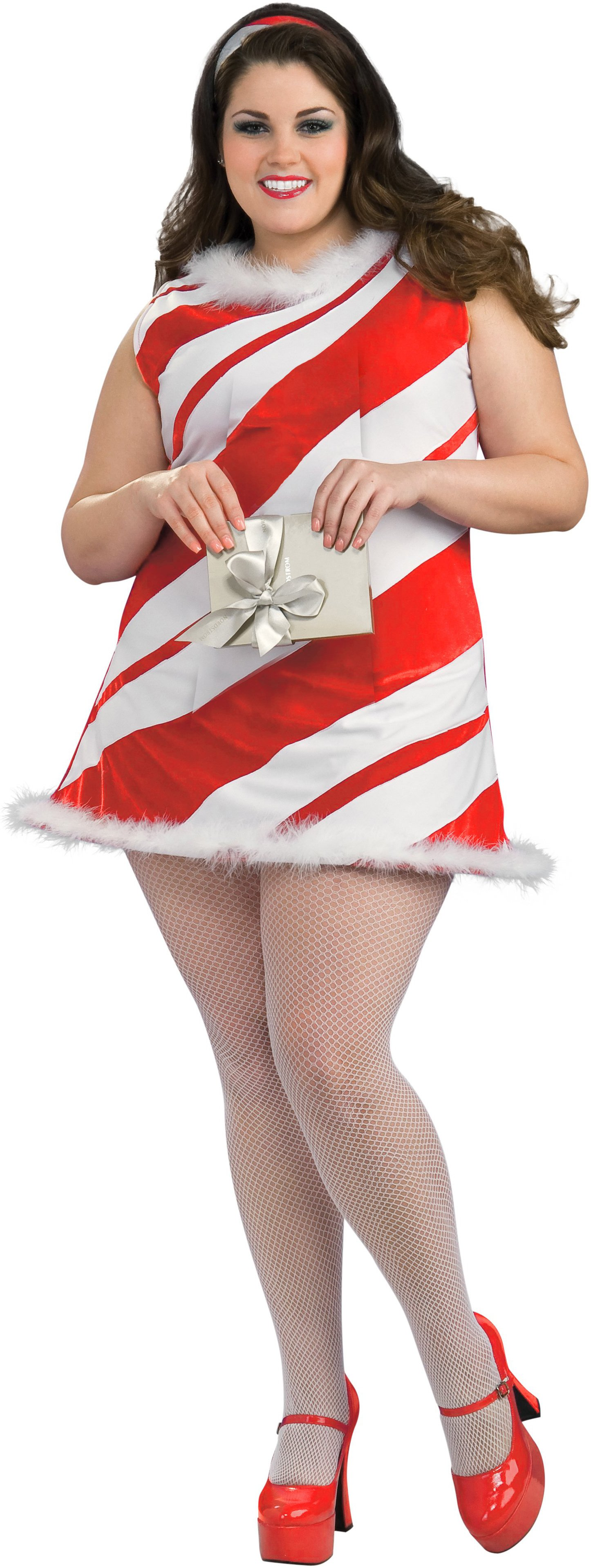 Ms. Candy Cane Plus Adult Costume