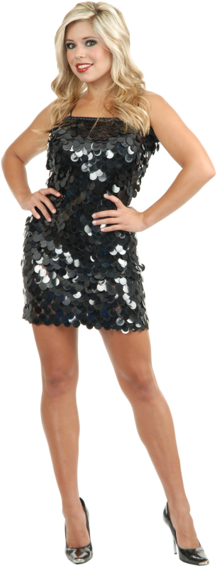 Hollywood Glam Queen (Black) Adult Costume