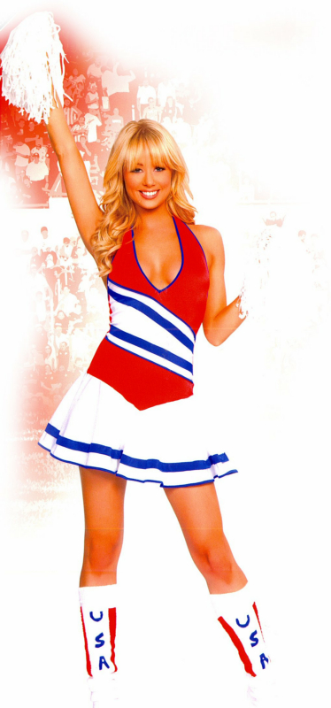 Cheerin' in the USA Adult Costume