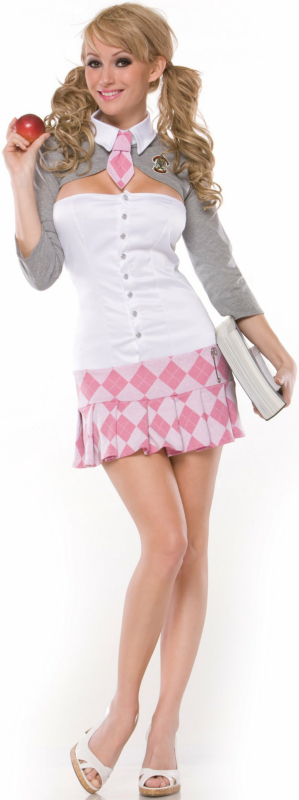 Prep School Girl Adult Plus Costume