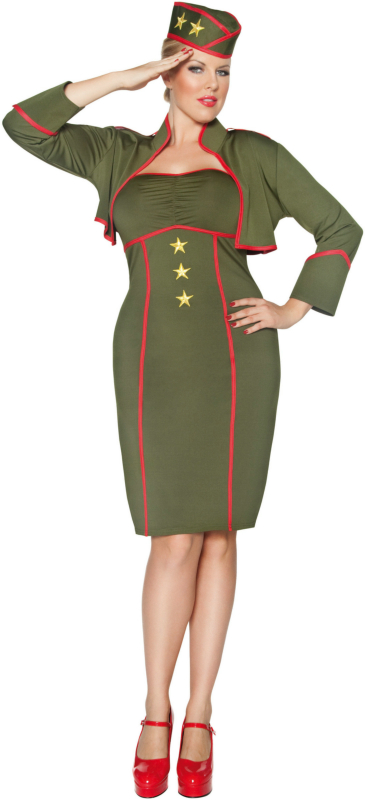 Army Girl Adult Plus Costume
