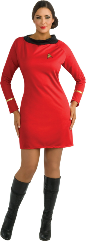 Star Trek Classic Red Dress Deluxe Adult Plus Costume
