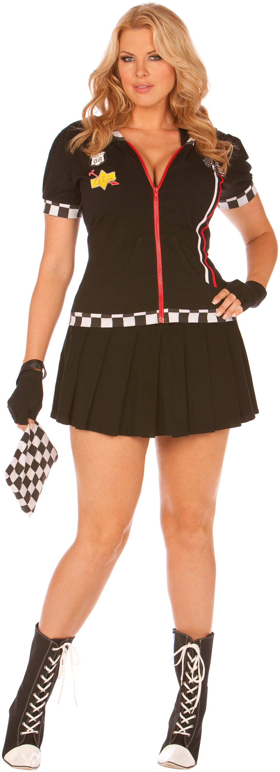 Pit Crew Princess Adult Plus Costume