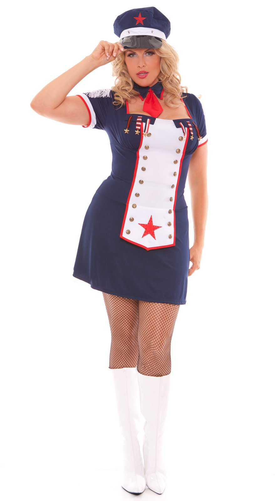 Naval Knockout Adult Plus Costume