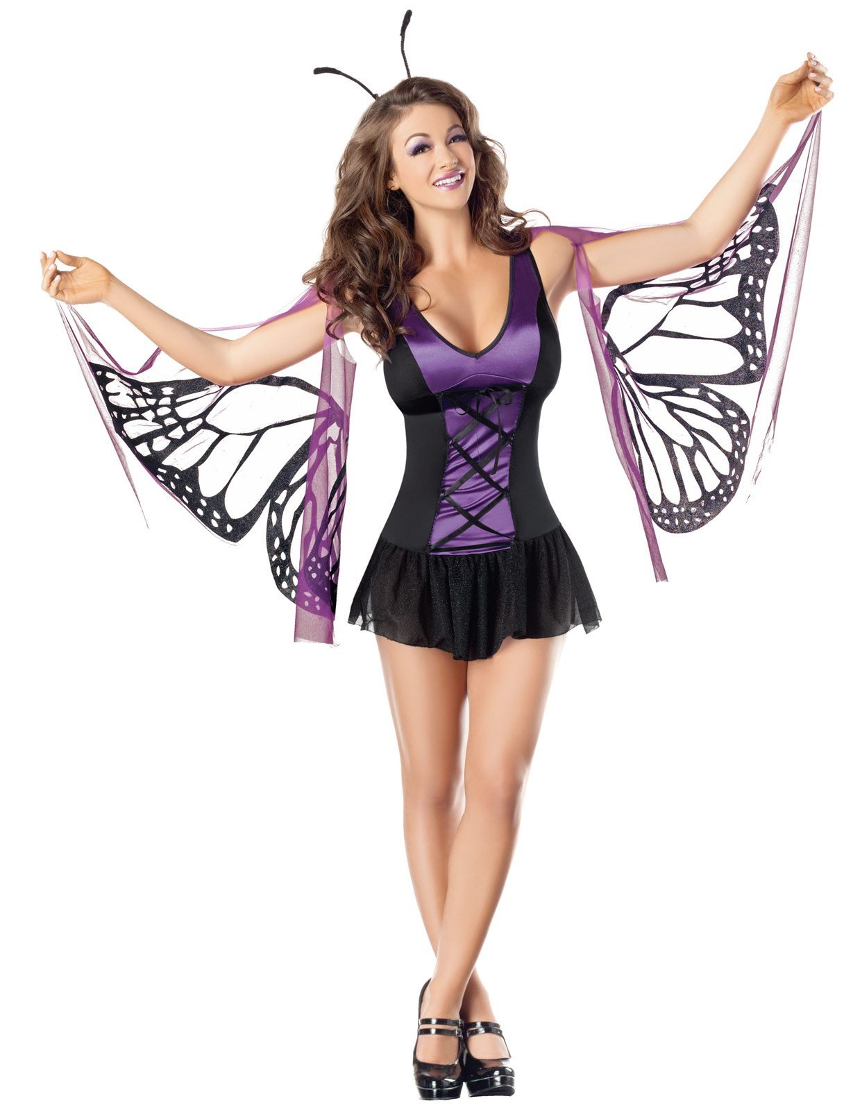 Sexy Mystical Purple Butterfly Adult Costume
