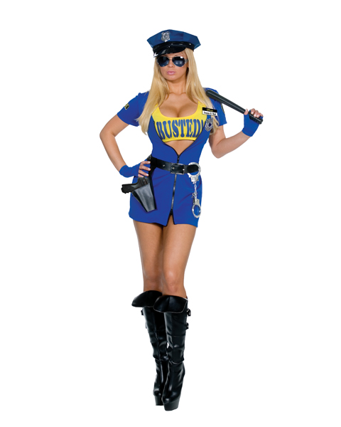 Sexy You Are Busted Police Woman Costume