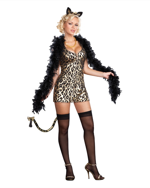 Womans Sexy Big City Kitty Costume