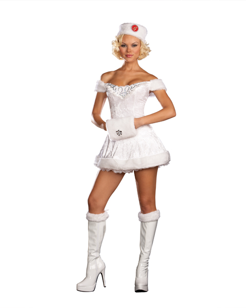 Womans Sexy White Russian Beauty Costume