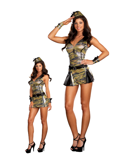 Womans Sexy Sergeant Sassy Costume