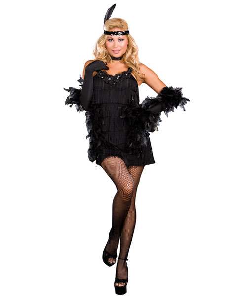 Sexy All That Jazz Flapper Plus Women's Costume