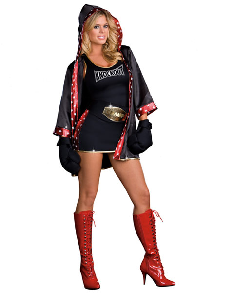 Sexy TKO Total Knockout Women's Boxer Costume