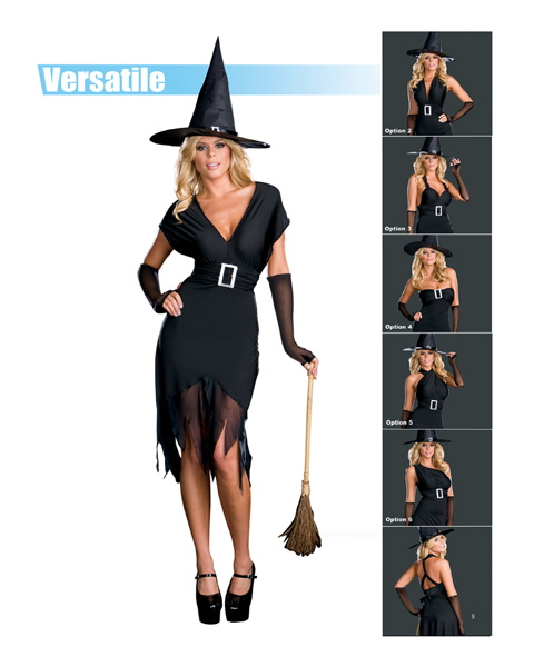Sexy Hocus Pocus Six in One Witch Adult Costume